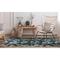 "Liora Manne Marina Floral Indoor/Outdoor Rug Navy 39""X59"""