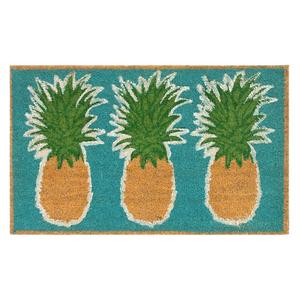 """Liora Manne Natura Pineapples Outdoor Mat Aqua 24""""X36"""""""