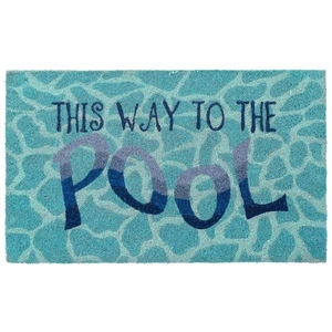 """Liora Manne Natura This Way To The Pool Outdoor Mat Water 24""""X36"""""""