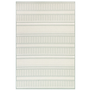 "Liora Manne Plymouth Modern Stripe Indoor/Outdoor Rug Aqua 7'10""X9'10"""