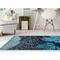 """Liora Manne Ravella School Of Fish Indoor/Outdoor Rug Navy 5'X7'6"""""""