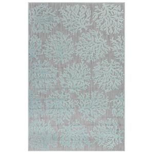 """Liora Manne Rialto Coral Indoor/Outdoor Rug Aqua 4'10""""X7'6"""""""