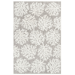 "Liora Manne Rialto Coral Indoor/Outdoor Rug Ivory 23""X7'6"""