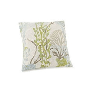 Ocean Botanical Quilted Pillow Blown Fill
