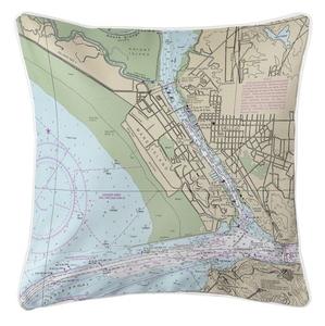 Vallejo, CA Nautical Chart Pillow