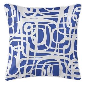 Tahiti Cobalt Coastal Pillow