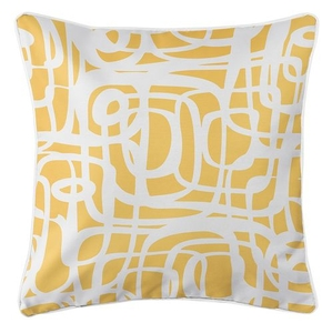 Tahiti Yellow Coastal Pillow