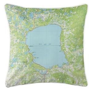 Mille Lacs Lake, MN (1985) Topo Map Coastal Pillow
