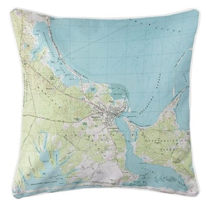 Edgartown, MA (1972) Topo Map Coastal Pillow