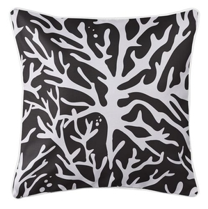 Sea Coral Coastal Pillow - Black