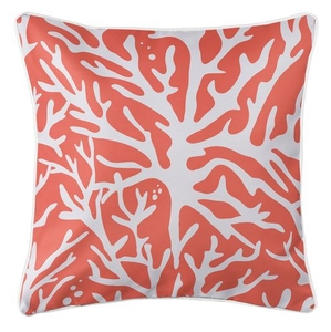 Sea Coral Coastal Pillow - Coral
