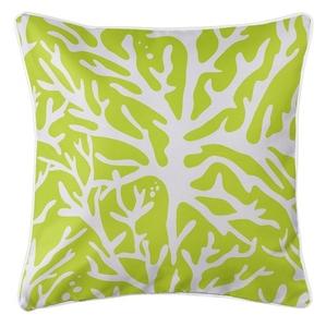 Sea Coral Coastal Pillow - Lime