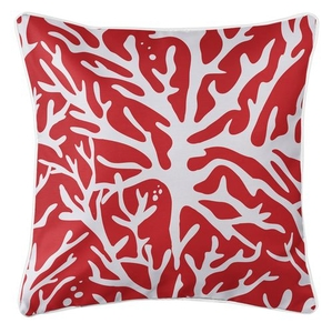 Sea Coral Coastal Pillow - Red