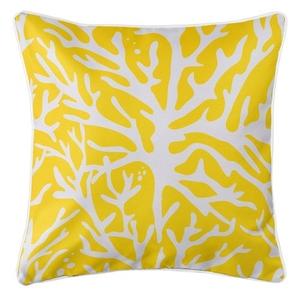 Sea Coral Coastal Pillow - Yellow