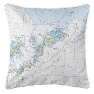 Virgin Gorda, BVI II Nautical Chart Pillow