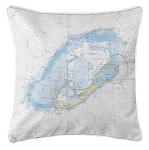 Bermuda Nautical Chart Pillow