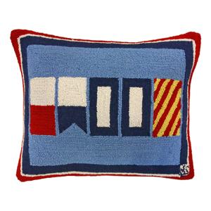Nautical Happy Hook Pillow