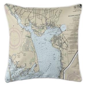 Port Charlotte, Punta Gorda, FL Nautical Chart Pillow