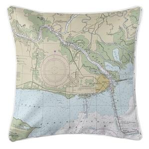 Apalachicola, FL Nautical Chart Pillow