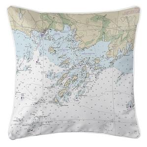 Thimble Islands, CT Nautical Chart Pillow