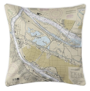 Portland North, OR Nautical Chart Pillow