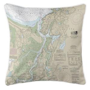Annisquam, Annisquam River, MA Nautical Chart Pillow