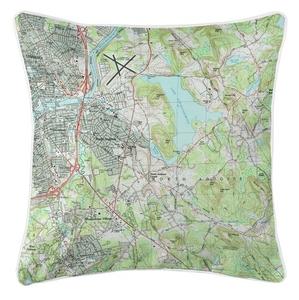 North Andover, MA Topo Map Coastal Pillow