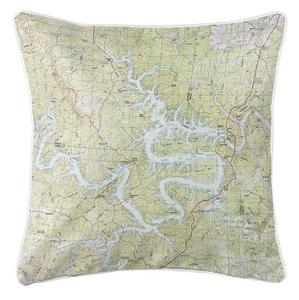 Lake of the Ozarks, MO (1983) Topo Map Coastal Pillow