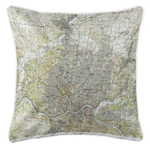 Cincinnati, OH (1986) Topo Map Coastal Pillow