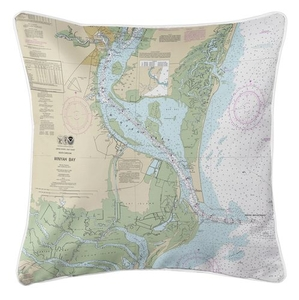 Winyah Bay, SC Nautical Chart Pillow