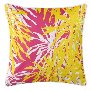 Palm Springs Coastal Pillow - Yellow, Pink