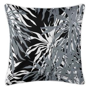 Palm Springs Coastal Pillow - Gray, Black