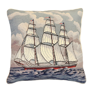 Square Rigger Needlepoint Pillow