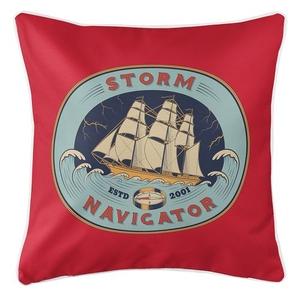 Storm Navigator Coastal Pillow
