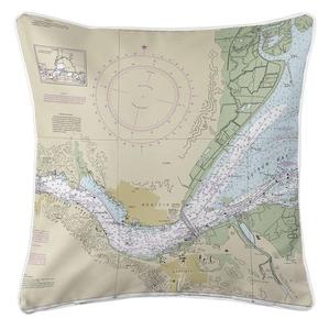 Benicia, CA Nautical Chart Pillow