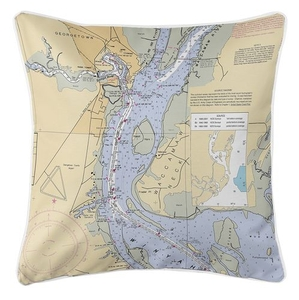 Georgetown, SC Nautical Chart Pillow