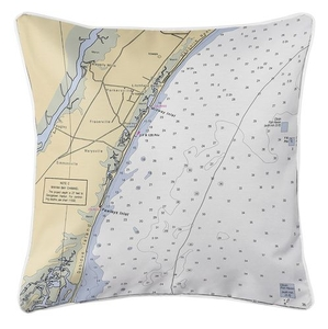 Pawley's Island, SC Nautical Chart Pillow