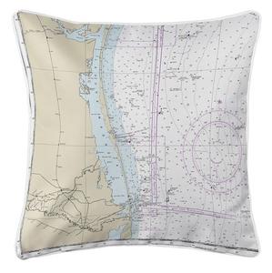 Padre Island, Laguna Madre, TX Nautical Chart Pillow