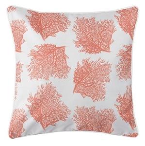 Sea Fan Coral Coastal Pillow