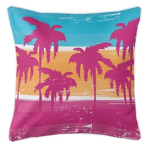Palm Trees Coastal Pillow