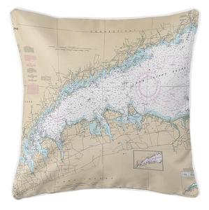 Long Island Sound (WESTERN), NY Nautical Chart Pillow