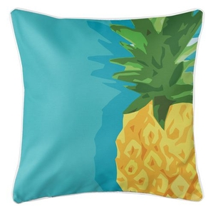 Summer Pineapple Coastal Pillow
