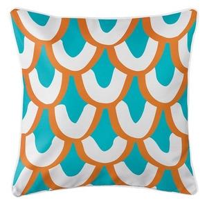Mermaid Scales Coastal Pillow