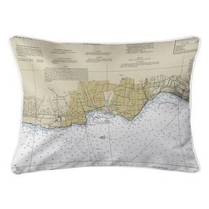 Santa Cruz, Capitola, CA Nautical Chart Lumbar Coastal Pillow