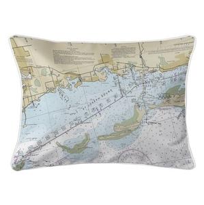 Crystal Beach, Honeymoon Island, FL Nautical Chart Lumbar Coastal Pillow