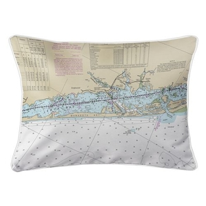 Englewood, Manasota Key, FL Nautical Chart Lumbar Coastal Pillow