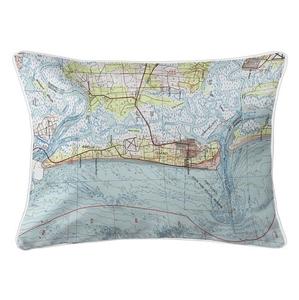 Amelia Island, FL (1981) Topo Map Lumbar Coastal Pillow