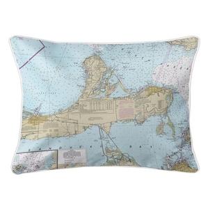 Catawba Island, Marblehead, OH Nautical Chart Lumbar Coastal Pillow