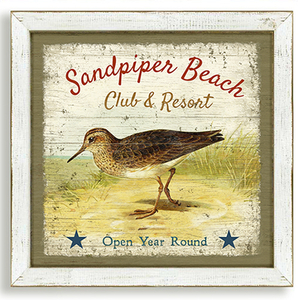 The Sandpiper Beach Framed Art