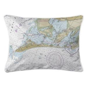 Anna Maria Island, FL Nautical Chart Lumbar Coastal Pillow